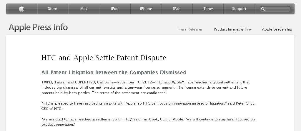 Apple si HTC au facut pace