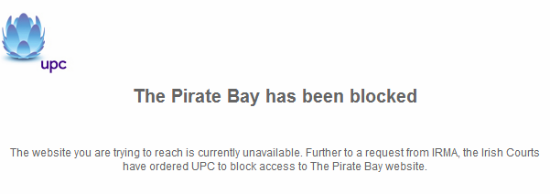 UPC A BLOCAT PIRATE BAY